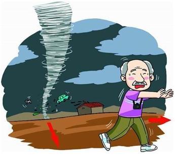 关于台风的卡通图案